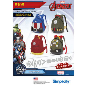Pattern 8108 Avengers Assemble Backpacks