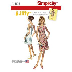 Simplicity Pattern 1101 Misses' Vintage 1960s Jiffy Dress