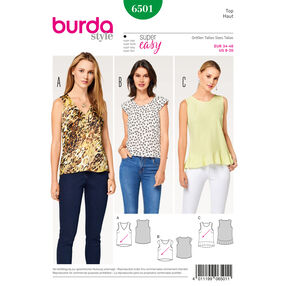 Burda Style Pattern B6501 Misses' Top with Flounce