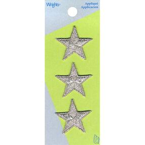 Metallic Star Iron-On Applique Set