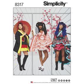 Simplicity Pattern 8317 Misses' Geisha Costumes