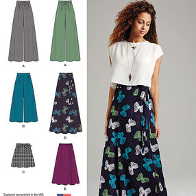 Misses' Wide Leg Pants or Shorts & Skirts in 2 Lengths