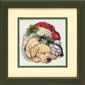 Christmas Morning Pets, Counted Cross Stitch_08826
