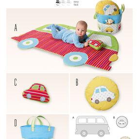 Burda Style Pattern 6885 Creative, Doll Clothes, Accessories