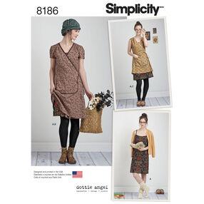 Pattern 8186 Misses' Dottie Angel Frock: Wrap and Slip Dress