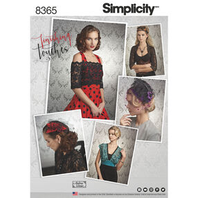 Simplicity Pattern 8365 Misses' Cover-Ups, Fascinator, and Hat