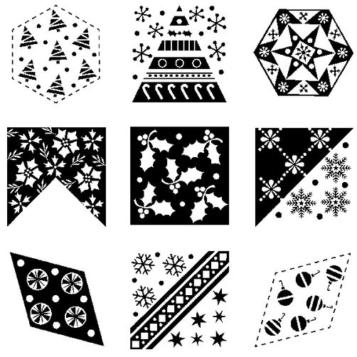 Christmas Quilt Clear Inchies Bundle_60-31234