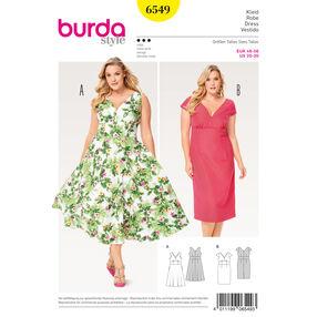 Burda Style Pattern B6549 Women's Short Sleeve Dress