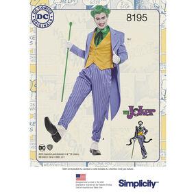 Pattern 8195 Men's D.C. Comics Joker Costume