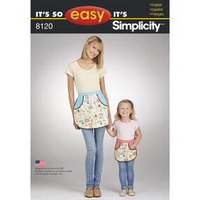 Simplicity Pattern 8120 It's So Easy Mother Daughter Aprons