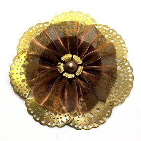 Chiffon-Metal  Pin & Clip Flower_56-63011