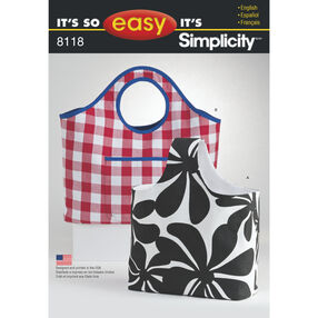 It's So Easy Pattern 8118 Tote Bags