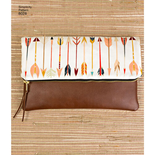 Pattern for Clutch, Wristlet and Purse in Two Sizes