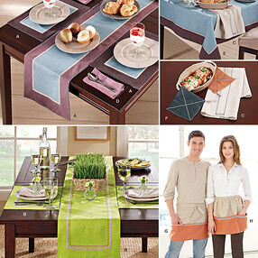 Table and Kitchen Accessories with Aprons