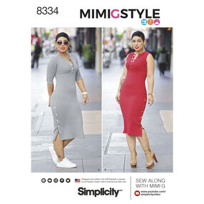 Simplicity Pattern 8334 Misses' Knit Dress by Mimi G