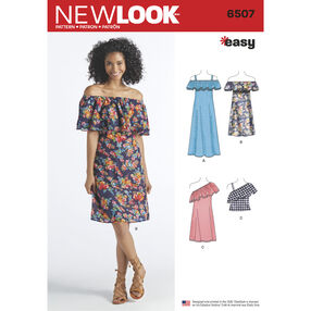 New Look Pattern 6507 Misses' Dresses and Top