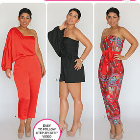 Misses' Long or Short Jumpsuit from Mimi G