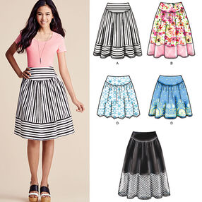 Misses' Easy-to-Sew Skirts in Three Lengths