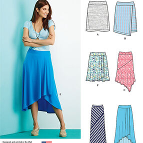 Misses' Knit Skirts with Length Variations