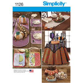 Simplicity Pattern 1126 Table Accessories