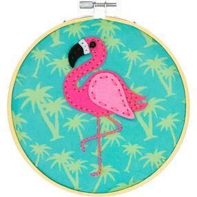 Tropical Flamingo, Felt Appliqué_72-75111