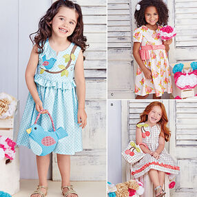Children's Spring Dresses with Purses