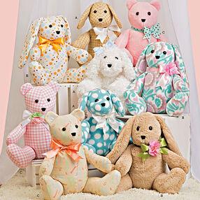Two-Pattern Piece Stuffed Animals