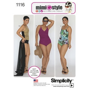 Misses' and Plus Size Swimsuits and Wrap Skirt