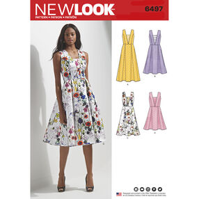 New Look Pattern 6497 Misses' Dress with Bodice and Length Variations