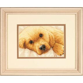Golden Puppy, Counted Cross Stitch_65038