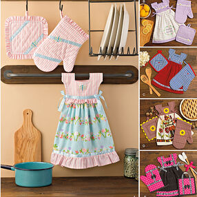 Pattern 8109 Towel Dresses, Pot Holders and Oven Mitts