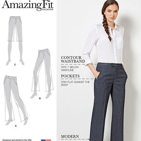 Amazing Fit Miss and Plus Size Flared Pants or Shorts