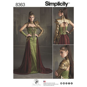 Simplicity Pattern 8363 Misses' Fantasy Ranger Costume