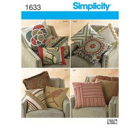 Simplicity Pattern 1633 Decorative Pillows