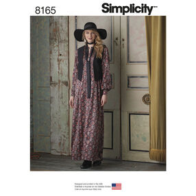 Pattern 8165 Misses' Maxi Dress with Lined Vest and Tie