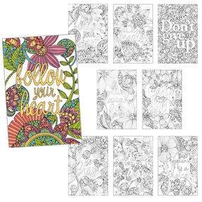 Inspirational Set of 8, Pencil Coloring_73-91514