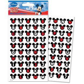 Mickey Mouse Ears Alphabet Dimensional Stickers_DAME