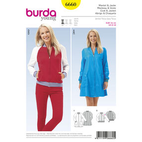 Burda Style Pattern 6660 Misses' Coat and  Jacket