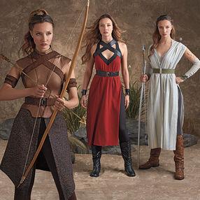Misses' Warrior Costumes