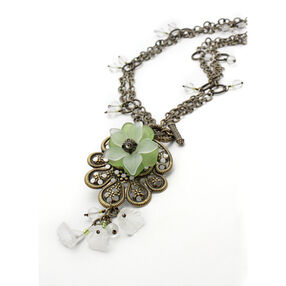 Filigree Flower Drop Necklace Kit_56-23045