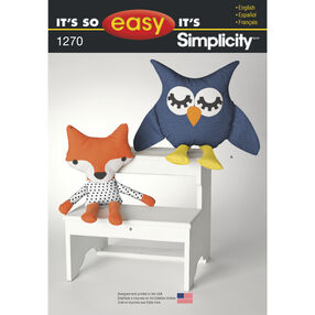 It's So Easy Stuffed Owl and Fox