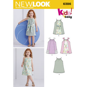 New Look Pattern 6386 Toddlers' Easy Pillowcase Dresses