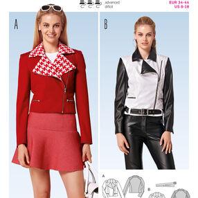 Burda Style Pattern 6800 Jackets, Coats, Vests