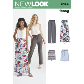 Pattern 6436 Misses' Skirts in Three Lengths, and Pants