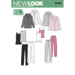 New Look Pattern 6142 Misses' & Men's Separates