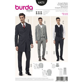 Burda Style Pattern 6871 Mens Wear, Sports Wear