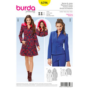 Burda Style Pattern 6596 Coat and Jacket