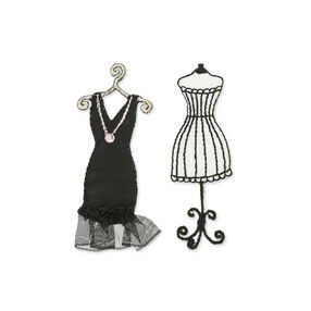 Simplicity Vintage Black Dress Appliques