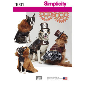 Simplicity Pattern 1031 Dog Costume Coats and Hats