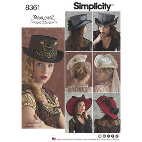 Simplicity Pattern 8361 Hats in Three Sizes